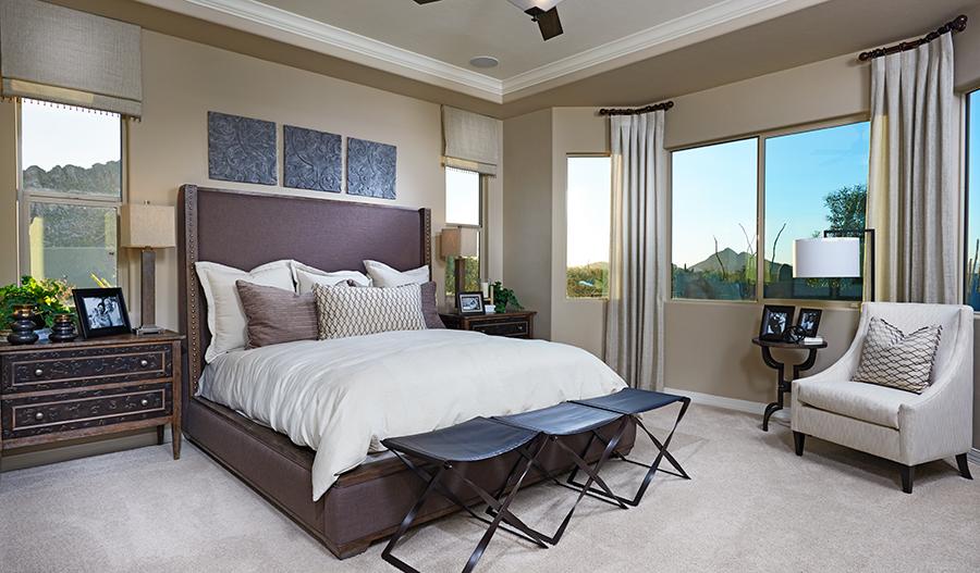 Master bedroom in the Dominic floor plan