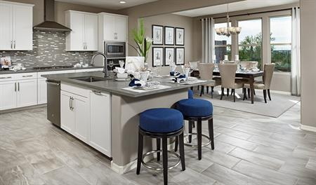 Kitchen and nook in the Yorktown floor plan