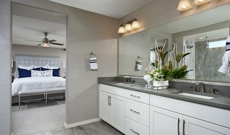 Master bathroom of the Yorktown floor plan
