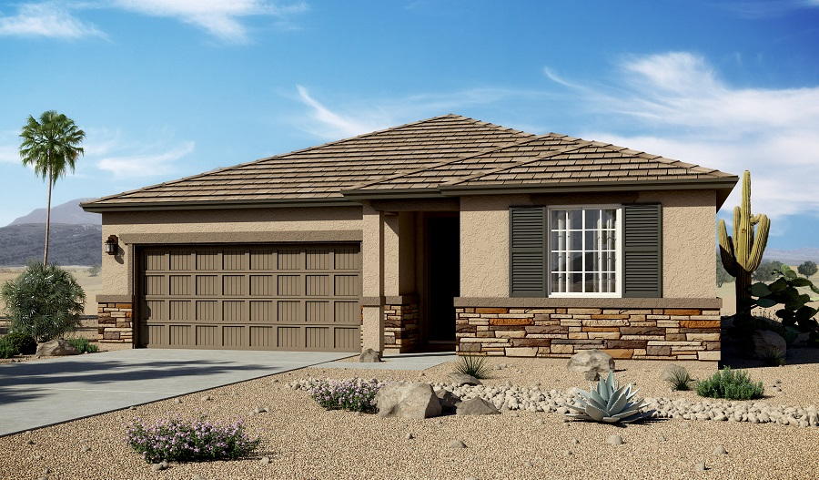 Exterior C of the Arlington floor plan in the Homestead at Gladden Farms community