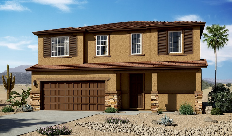 Exterior C of the Bedford floor plan in the Homestead at Gladden Farms community