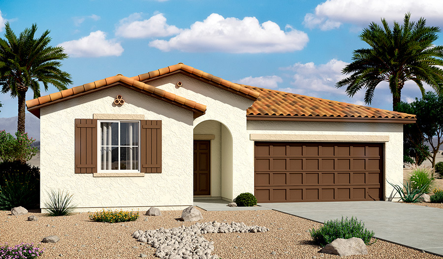 Exterior A of the Stephen floor plan in the Bridlewood community
