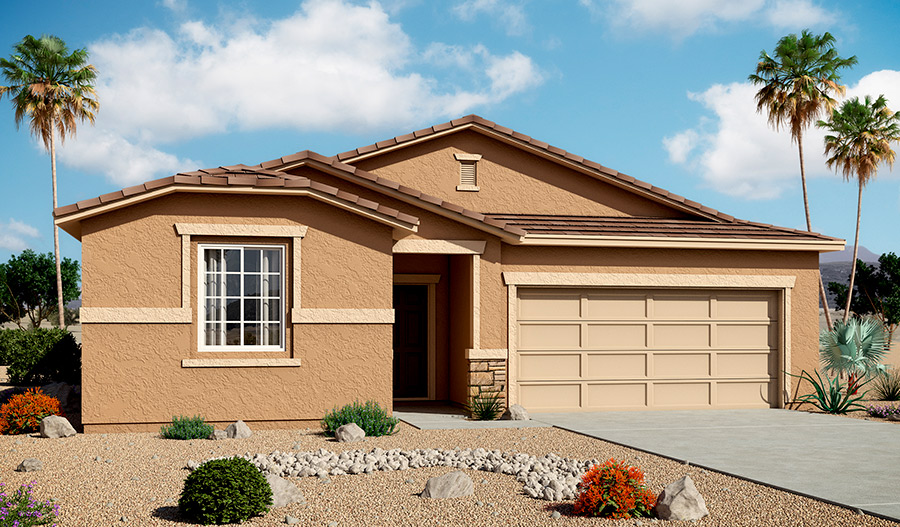 Exterior B of the Stephen floor plan in the Bridlewood community