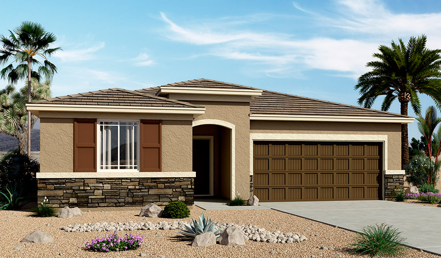 Exterior C of the Stephen floor plan in the Bridlewood community