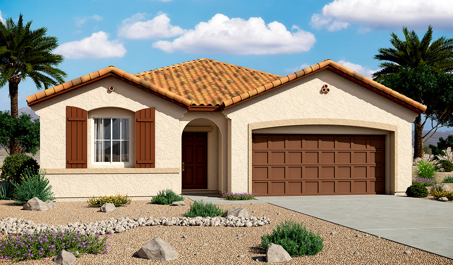 Exterior A of the Samantha floor plan in the Bridlewood community