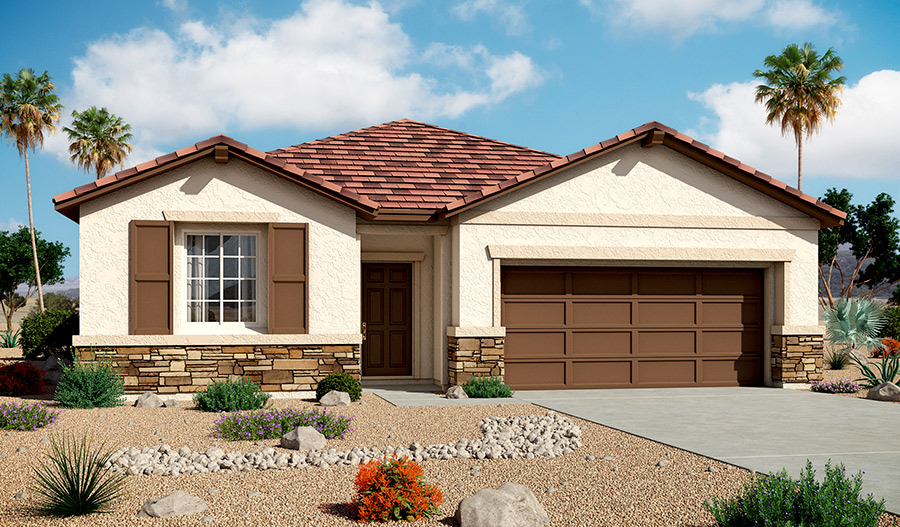 Exterior B of the Samantha floor plan in the Bridlewood community