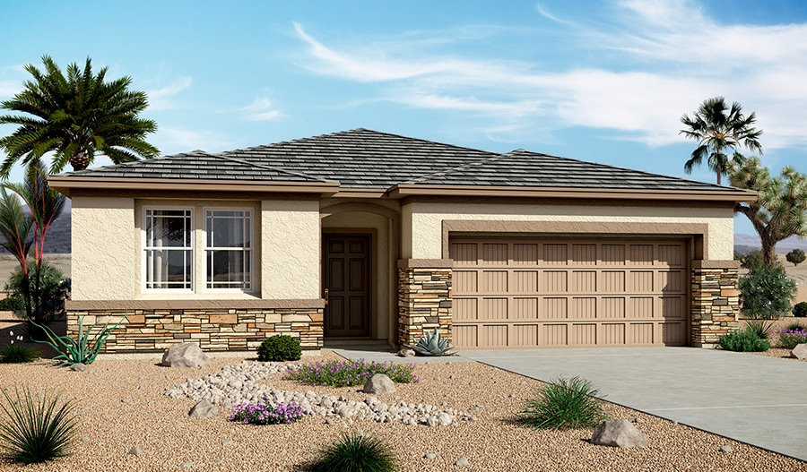 Exterior C of the Samantha floor plan in the Bridlewood community