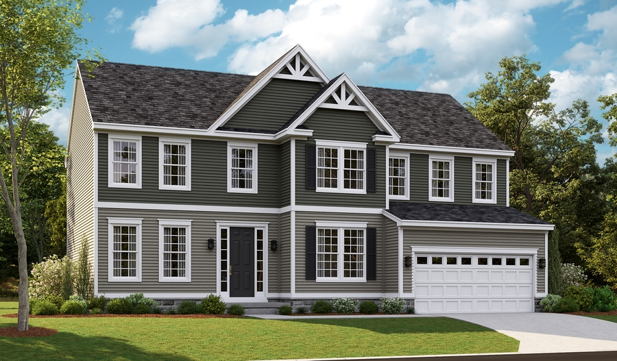 Exterior F of the Amherst floor plan