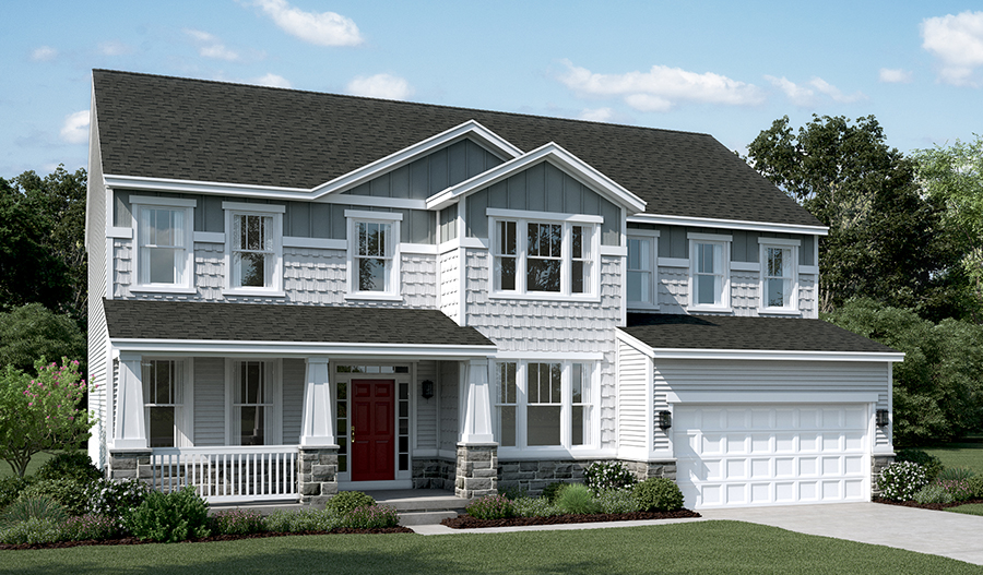 Exterior H of the Amherst floor plan