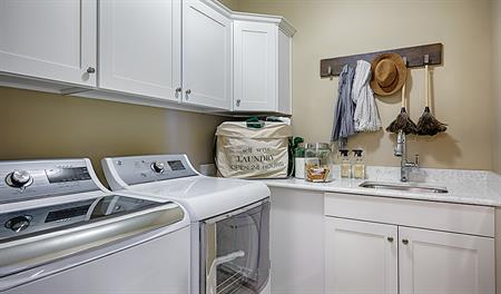 Laundry room in the Jessica floor plan