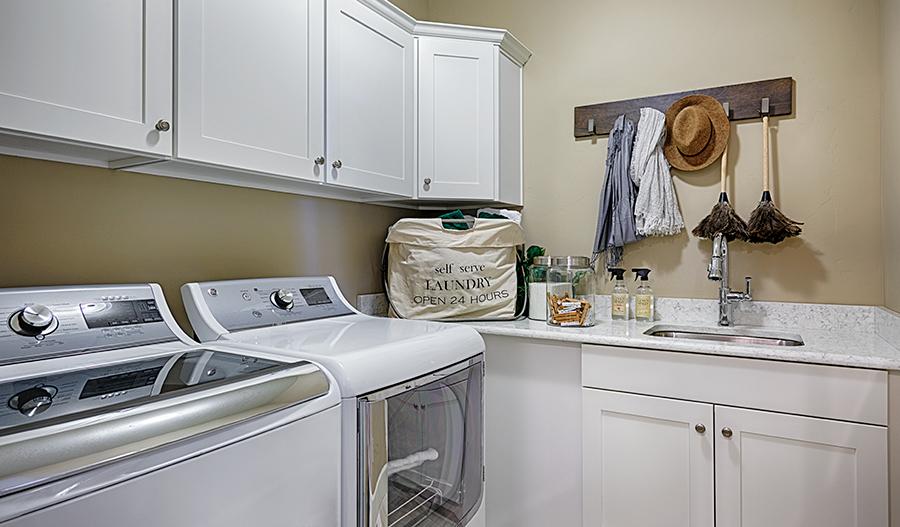 Laundry room in the Jessica floor plan