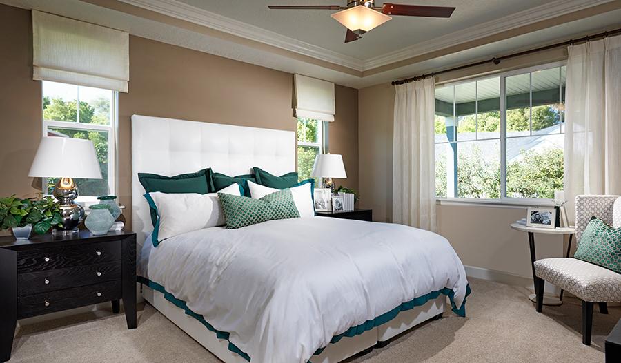 Master bedroom in the Jessica floor plan