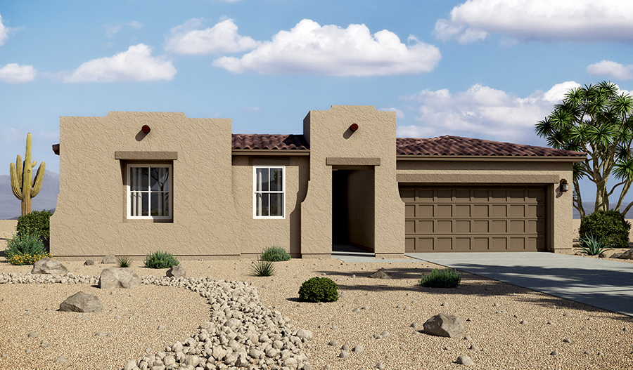 Exterior A of the Denise floor plan in the Rancho Reina community