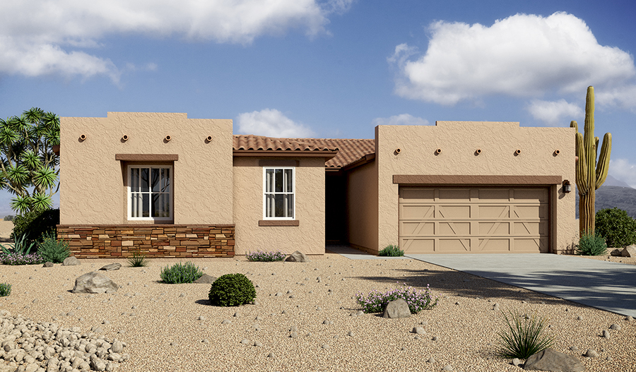 Exterior B of the Denise floor plan in the Rancho Reina community