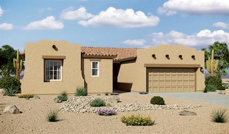 Exterior A of the Dominic floor plan in the Rancho Reina community