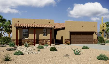 Exterior B of the Dominic floor plan in the Rancho Reina community