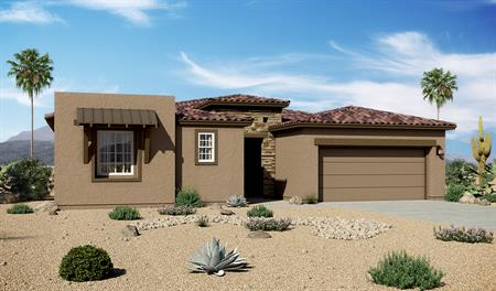 Exterior C of the Dominic floor plan in the Rancho Reina community