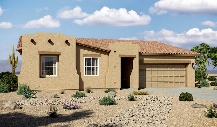 Exterior A of the Daniel floor plan in the Rancho Reina community