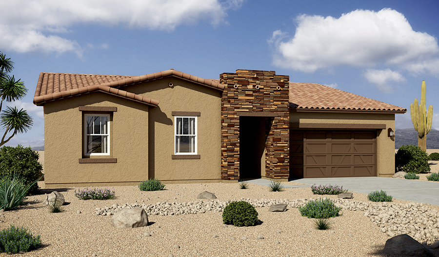 Exterior B of the Daniel floor plan in the Rancho Reina community