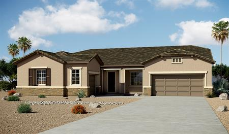 Exterior B of the Hanford floor plan in the Arlington Point community