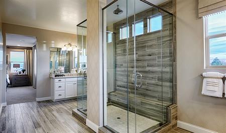 Master bathroom in the Sage floor plan