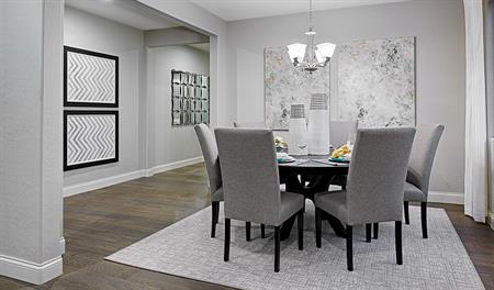 Dining room in the Sadie floor plan