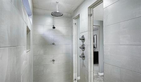 Shower in the Hopewell floor plan