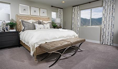 Master bedroom in the Yorktown floor plan