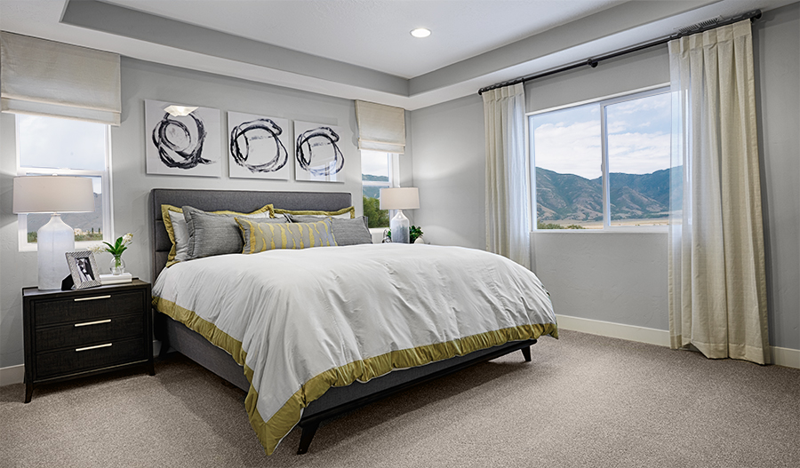 Master bedroom in the Bedford floor plan