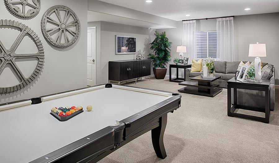 Basement in the Coronado floor plan