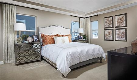 Master bedroom in the Hopewell floor plan