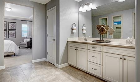 Master bath in the Hopewell floor plan