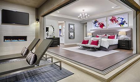 Master bedroom in the Melbourne floor plan