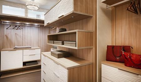 Master walk-in closet in the Melbourne floor plan