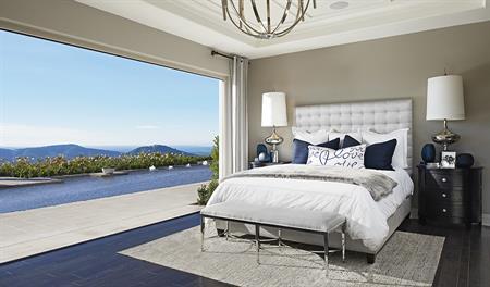 Master bedroom in the Reilly floor plan