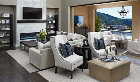 Family room in the Reilly floor plan