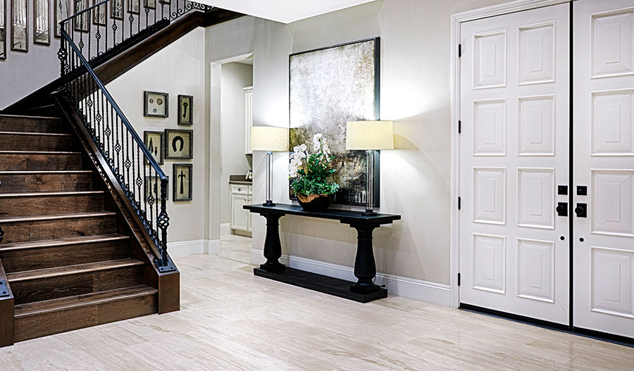 Staircase in the Rockwell floor plan