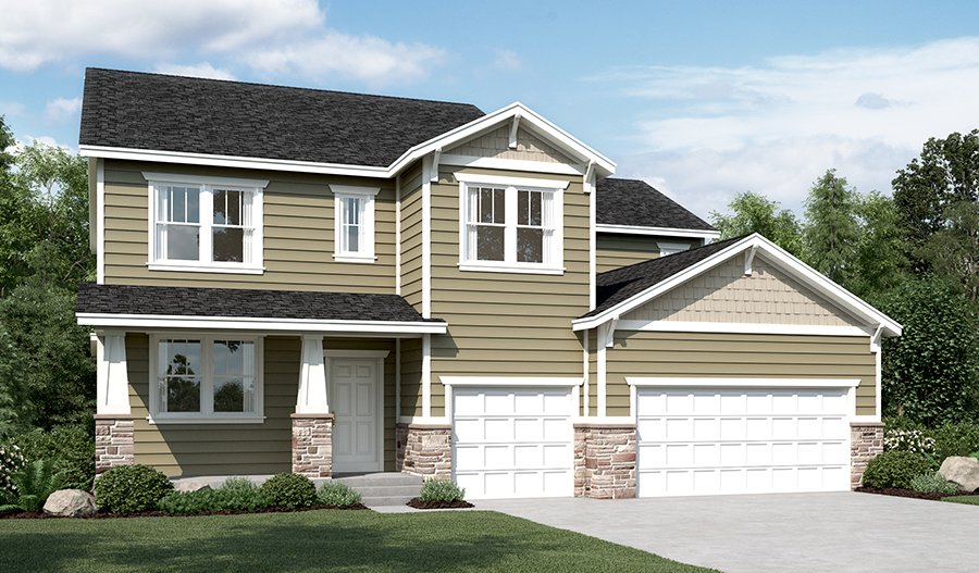 Exterior C of the Dillon floor plan in the River Park community