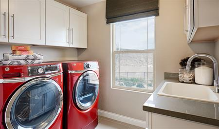 Laundry room in the Lawson floor plan