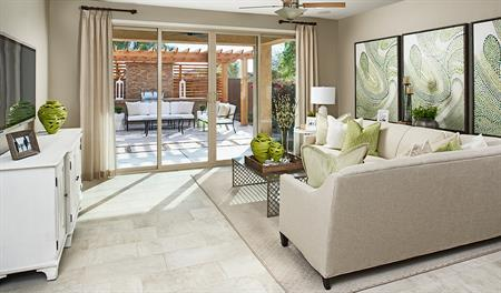 Family room in the Peridot floor plan