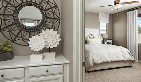Master bedroom in the Peridot floor plan