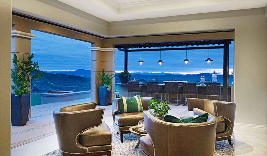 Sitting area with mountain view in the Melbourne floor plan
