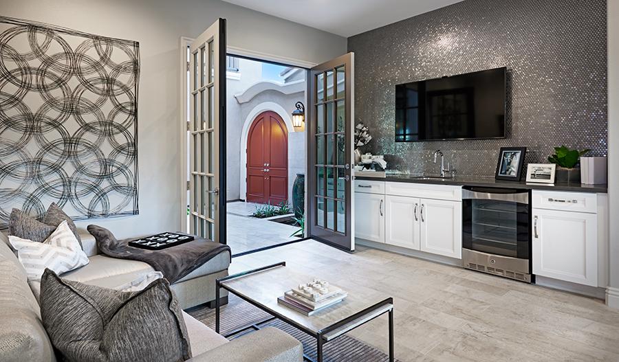 Living room in the Melbourne floor plan