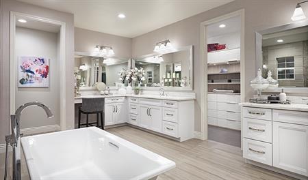 Master bathroom in the Melbourne floor plan