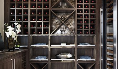 Wine room in the Melbourne floor plan