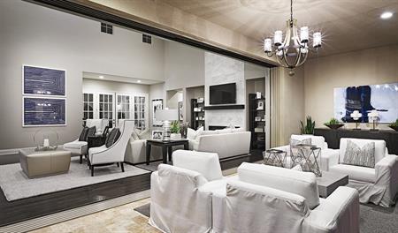 Great room in the Reilly floor plan