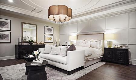 Master bedroom in the Rockwell floor plan