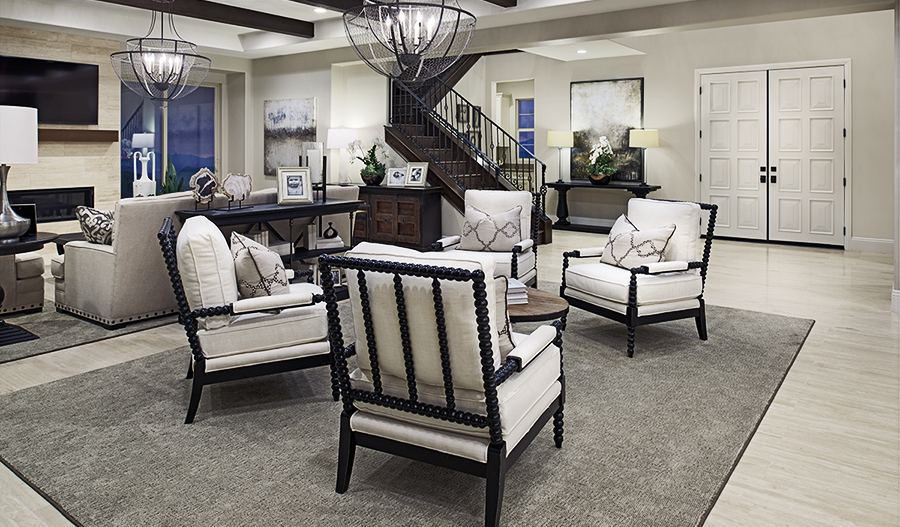 Sitting area in the Rockwell floor plan