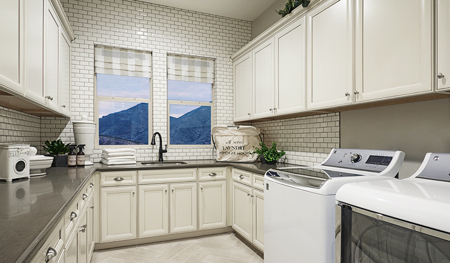 Laundry room in the Rockwell floor plan