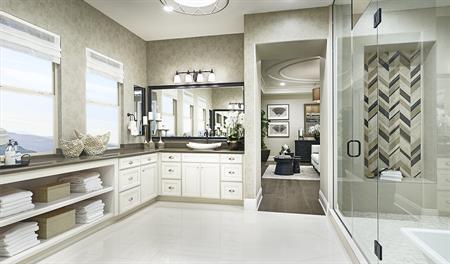 Master bathroom in the Rockwell floor plan